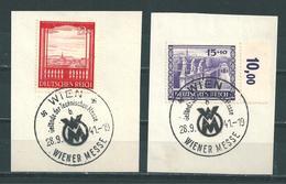 MiNr. 804-805 Briefstücke (07) - Oblitérés