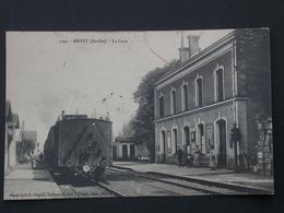 Ref5766 CPA Animée Mayet (Sarthe) - La Gare - Photo Huguet Forget Tabac N°1149 - 1915 - Mayet