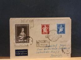 79/526A    LETTRE POLOGNE RECOMM.  1956  POUR LA FRANCE - 1944-.... République