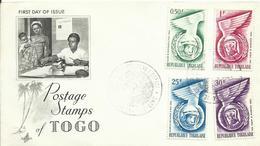 TOGO, SOBRE PRIMER DIA TEMA ESPACIAL - Togo (1960-...)