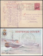 ENTIER 10C SUR 30C OSTENDE-DOUVRES PAQUEBOT VOYAGE (DD) DC-2901 - Stamped Stationery
