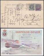 ENTIER 5C SUR 15C OSTENDE-DOUVRES PAQUEBOT VOYAGE (DD) DC-2903 - Stamped Stationery