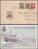 ENTIER 5C SUR 30C OSTENDE-DOUVRES PAQUEBOT VOYAGE (DD) DC-2911 - Stamped Stationery