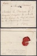 """LETTRE DATE DE FRANCFORT 23/02/1746 """" ARMEE DU RHIN """"VERS MARQUIS DE LONGERON PARIS (DD) DC-2913 - Postmark Collection (Covers)"""