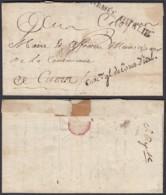 """LETTRE DATE DE NICE 1794 """" ARMEE D ITALIE """" COM.reGL DE L ARM.D ITAL. (DD) DC-2914 - Marcophilie (Lettres)"""