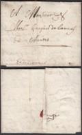 """LETTRE DATE DE LILLE 30/06/1638 VERS ANVERS MANUSCRIT """"EN DILIGENCE"""" (DD) DC-2918 - Postmark Collection (Covers)"""