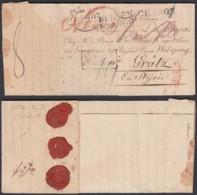 """LETTRE DE MONS 16/04/1817 """"CHARGE """" ET """"BERGEN FRANCO"""" VERS GRATZ FRANCO FRONTIERE(DD) DC-2922 - 1815-1830 (Période Hollandaise)"""