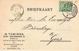 11 MEI 10 Grootrond AMSTERDAM-ZUTPHEN B Op Bk Met Firmalogo Van Baarn Naar Biezelinge - Storia Postale