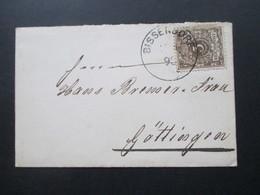 DR 1898 Nr. 45 Auf Sehr Kleinem Brief 10,5 X 6,5cm Stempel K1 Bissendorf Nach Göttingen - Deutschland