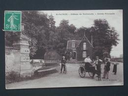 Ref5768 CPA Animée St Patrice (Indre Et Loire) - Chateau De Rochecotte - Entrée Principale  Ed. Halley 1911 - Autres Communes