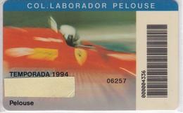 CARNET DE COLABORADOR PELOUSE DEL CIRCUIT DE CATALUNYA DEL AÑO 1994 - FERRARI - FORMULA 1 - Tarjetas Telefónicas