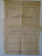 ZA148.1  Hungary Old Document - Illetőségi Bizonyítvány -  GYÖMRŐ  Mátéffy Lajos Szilágsomlyó 1946 - Unclassified