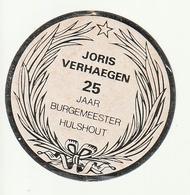 Autocollant Sticker  Joris VERHAEGEN 25 Jaar Burgemeester Hulshout - Pegatinas