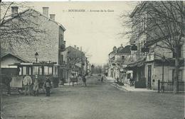 BOURGOIN - Avenue De La Gare (attelage Service De Ville , Pas Courant ) - Bourgoin