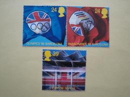 1992  Grande Bretagne Yv 1621/3  ** MNH Sport JO Barcelone Cote 5.50 € Michel 1402/4 Scott 1451/3  SG 1617/9 - Nuovi