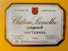 10388 - Château Lamothe  Guignard 1982 Sauternes - Bordeaux