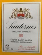 10393 - Sauternes  1973 Bastit Saint-Martin - Rouges