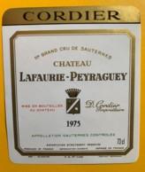 10396 -  Château Lafaurie-Peyraguey 1975 Sauternes - Rouges