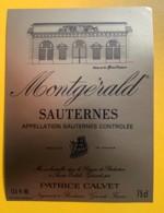 10398-  Montgérald Sauternes - Rouges