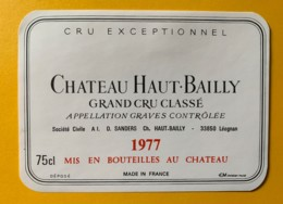 10404 -  Château Haut-Bailly 1977 Graves - Rouges