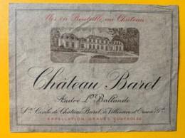 10405 -  Château Baret Graves - Rouges