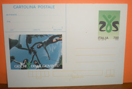 1993 Italia Giochi Della Gioventù Lire 700 Intero Postale Cartolina - 6. 1946-.. Repubblica
