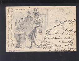 CP Souvenir De Paris 1898 G. Mouton - Künstlerkarten