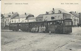 Saint-Léger - Arrivée Du Vicinal  (animation) - Saint-Leger