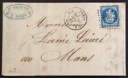 49 Paris Bureaux Supplémentaires DS2 Romaines T22 Lettre 16/10/1862 - Postmark Collection (Covers)