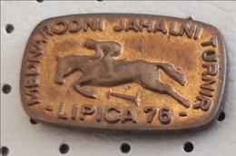 LIPICA Horse Horses Competition 1976 Show Jumping Slovenia Ex Yugoslavia Pin - Badges