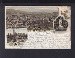 Württemberg Litho-AK Gruß Aus Stuttgart Jägerhaus 1897 - Stuttgart