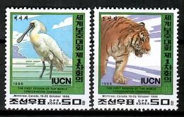 Korea 1996 Corea / Birds Mammals Tiger MNH Vögel Säugetiere Aves Mamífero Tigre / Cu12525  41-40 - Pájaros