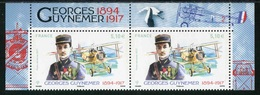 "TIMBRES** Gommés De 2017 Haut De Mini-feuille PA ""5,10 € - GEORGES GUYNEMER"" - 1960-.... Ungebraucht"