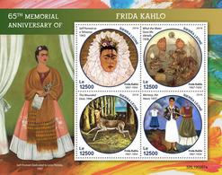 SIERRA LEONE 2019 - F. Kahlo, Spider. Official Issue. - Spinnen