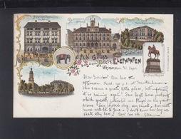 Dt. Reich Litho-AK Gruß Aus Weimar Hotel Zum Elephanten 1897 - Weimar