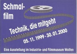 AK - 38960 - Werbekarte  - Schmalfilm, Technik Die Mitgeht - Aussstellung 2000 , Im Museum Wolfen - Werbepostkarten