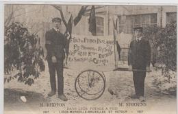 CPA  LIEGE  M.RIXHON ET M.SIMOENS.DANS LEUR VOYAGE A PIED.LIEGE MARSEILLE.BRUXELLES.ET RETOUR.TTBE 1907 - Non Classés