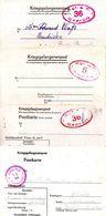 4 Formulaires Kriegsgefangenenpost Prisonnier Guerre 1940/45  Stalag I A STABLACK  + Censures PRIX FIXE !!! 2,50 Euros ! - Documents