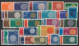 Gemeinschaft / CEPT / Europa 1970 Jahrgang 19 Ausgaben Komplett ** - Europa-CEPT
