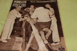 BUT Et CLUB Le Miroir Des Sports 16 Février 1954: Boxe Famechon KO, Cyclisme Bobet, Rugby Agen-Paris, Patinage, Tennis - Sport