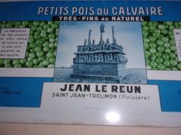 N/ TOLE LITHO POUR MAQUETTE BOITE PETITS POIS DU FINISTERE JEAN LE REUN SAINT JEAN TROLIMON 33/15 CM - Autres Collections
