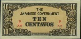 PHILIPPINES - 10 Centavos Nd.(1942) {Japanese Occupation WWII} {fractional Block Letters} AU-UNC P.104 B - Philippines