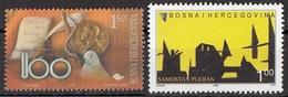 Bosnia 2001 Sc. 393 Centenario Nobel - 2005 Sc. 517 Monastero San Marco Piehan Used - Bosnia Erzegovina