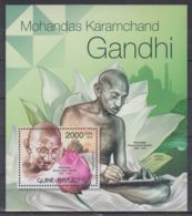 T623. Guinea-Bissau - MNH - 2012 - Famous People - Gandhi - Flowers - Bl. - Célébrités