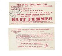 TICKETS D ENTREE THEATRE  EDOUARD VII   HUIT FEMMES *****   A   SAISIR ***** - Tickets D'entrée