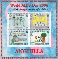 ANGUILLA 2004 - World AIDS Day S/S - Sc 1136 - Anguilla (1968-...)