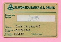 Cards - Credit Card - Slavonska Banka D.d. Osijek, Croatia, Exp. 199? - Tarjetas De Crédito (caducidad Min 10 Años)
