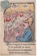 CPA  Fantaisie : Vierges Danseuses , Humour ( Pompier ? ) - Humour