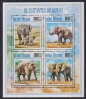 C229. Guinea-Bissau - MNH - 2013 - Nature - Animals - Elephants - Timbres