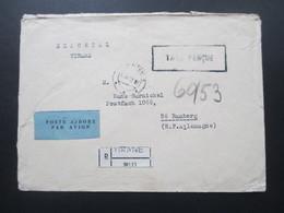 Albanien 1962 Stempel Taxe Percue / Exportal Tirana Albania Luftpost Einschreiben / Par Avion R-Zettel Tirane No 113 - Albania